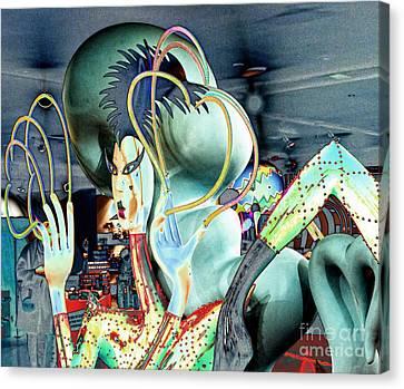 Lady Gaga Iv Canvas Print by Chuck Kuhn
