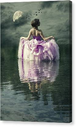 Lady In The Lake Canvas Print by Joana Kruse