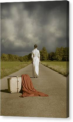 Lady On The Road Canvas Print by Joana Kruse