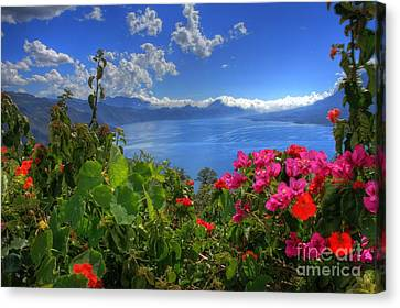 Lake Atitlan Guatemala Canvas Print by John Loreaux