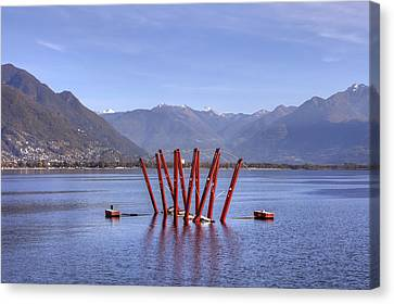 Lake Maggiore Locarno Canvas Print by Joana Kruse