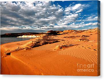 Lake Powell Morning Clouds Canvas Print by Thomas R Fletcher