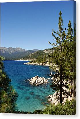 Lake Tahoe Shoreline Canvas Print by Scott McGuire