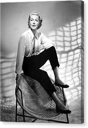 1950s Fashion Canvas Print - Lana Turner, 1950s by Everett
