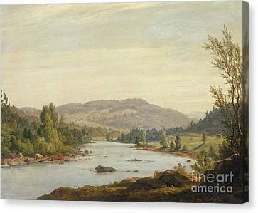 Landscape With River Canvas Print by Sanford Robinson Gifford