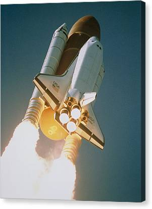 Launch Of Shuttle Atlantis On Sts-34 Canvas Print by Nasa