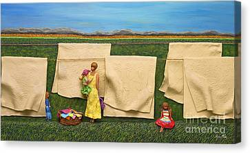 Laundry Canvas Print by Anne Klar