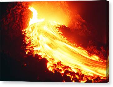 Lava Flow And Vent Canvas Print by Dr Juerg Alean