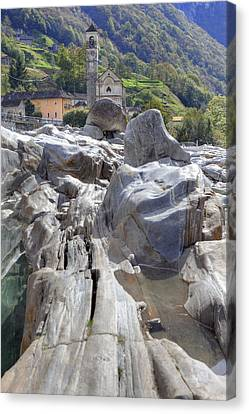 Lavertezzo - Ticino Canvas Print by Joana Kruse