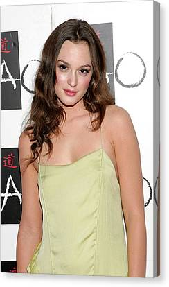 Tao Nightclub At The Venetian Resort Hotel Casino Canvas Print - Leighton Meester In Attendance by Everett