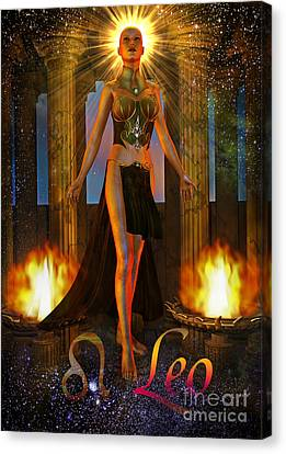 leo Canvas Print by Shadowlea Is