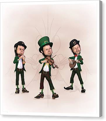 Leprechaun  Musicians Canvas Print by John Junek