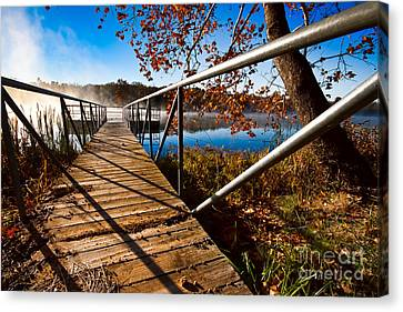 Canvas Print featuring the photograph Let's Go Fishing by Lawrence Burry