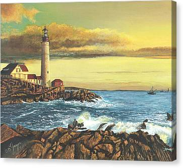 light house Nova Scotia Canvas Print by Stuart B Yaeger