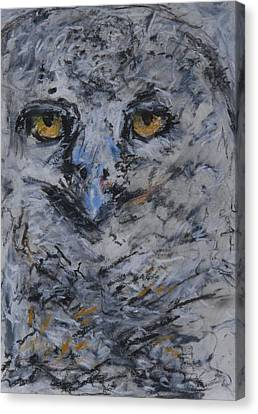 Lipstick Owl Canvas Print by Iris Gill