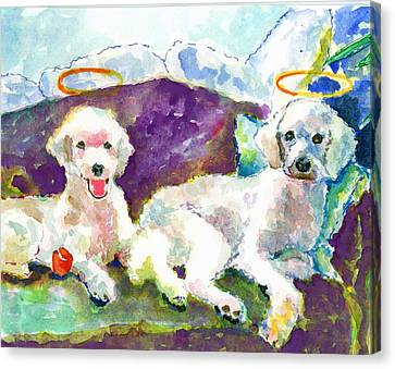 Little Angels Poodles Canvas Print by Marsden Burnell