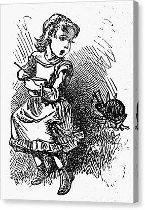 Little Miss Muffet Canvas Print - Little Miss Muffet by Granger