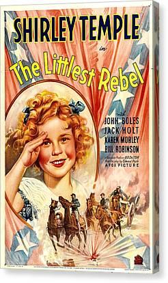 Littlest Rebel, Shirley Temple, 1935 Canvas Print by Everett