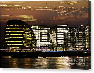 London City Hall At Night Canvas Print by Elena Elisseeva