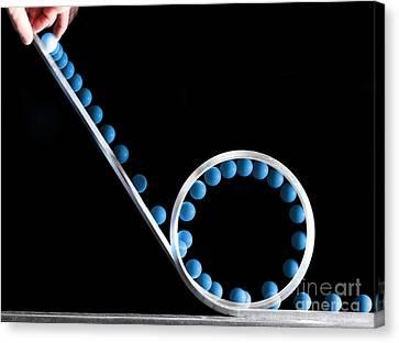 Loop The Loop Canvas Print by Ted Kinsman