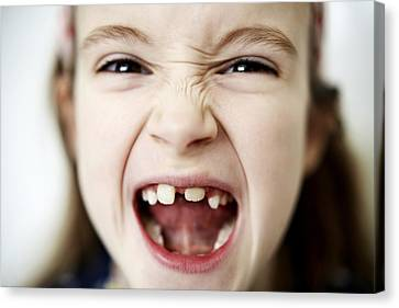 Milk Teeth Canvas Print - Loss Of Milk Teeth by Ian Boddy