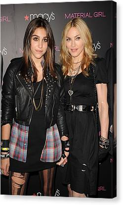 Lourdes Leon, Madonna At In-store Canvas Print by Everett