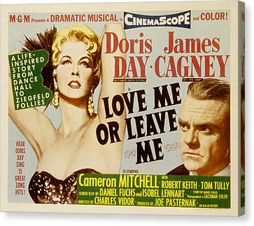 Love Me Or Leave Me, Poster Art, Doris Canvas Print by Everett