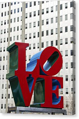 Love Park - Center City - Philadelphia Canvas Print by Brendan Reals
