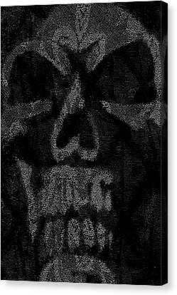 Macabre Skull Canvas Print by Roseanne Jones
