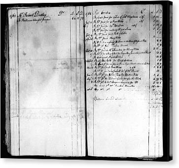 Madison: Account Book Canvas Print by Granger