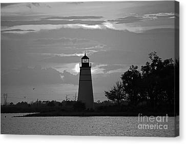 Canvas Print featuring the photograph Madisonville Lighthouse Sunset by Luana K Perez