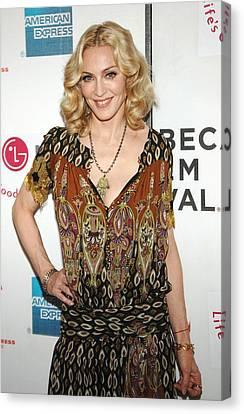 Madonna Wearing A Gucci Dress Canvas Print by Everett
