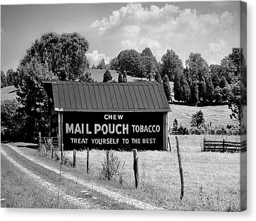 Canvas Print featuring the photograph Mail Pouch Barn by Mary Almond
