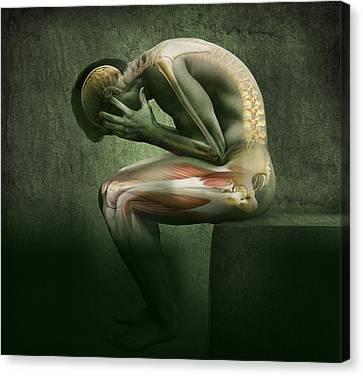 Main In Pain, Artwork Canvas Print