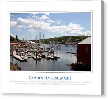 Maine Harbour Canvas Print by Jim McDonald Photography