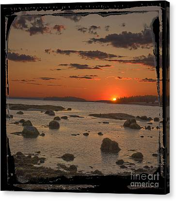 Maine Sunset Canvas Print by Jim Wright