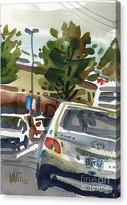 Mall Parking Canvas Print by Donald Maier