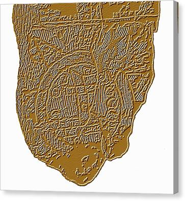 Map Of Mesopotamia Canvas Print by Sheila Terry