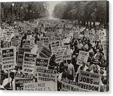 March On Washington. African Americans Canvas Print by Everett