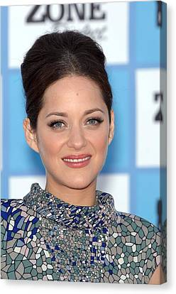 Marion Cotillard At Arrivals Canvas Print by Everett