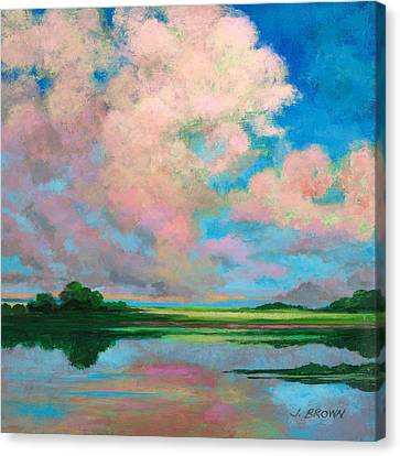 Marsh Clouds Canvas Print