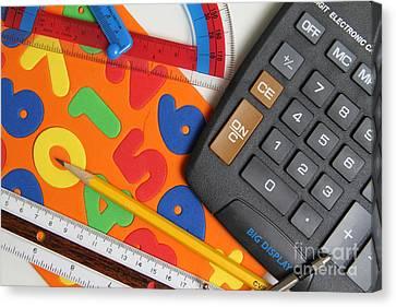Mathematics Tools Canvas Print by Photo Researchers Inc