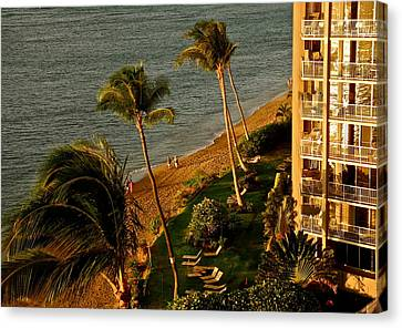 Canvas Print featuring the photograph Maui Sunset by Kirsten Giving