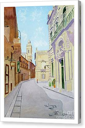 Mdina Streetscape Canvas Print