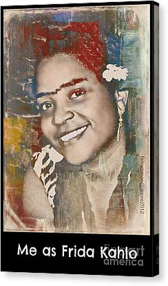 Me As Frida Canvas Print by Fania Simon