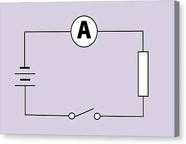 Measuring Electric Current Canvas Print by Sheila Terry