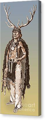 Native American Clothes Canvas Print - Medicine Elk by Science Source
