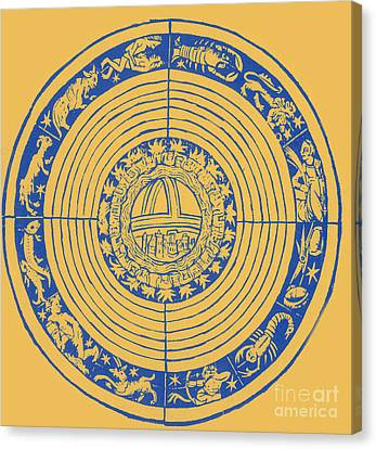 Medieval Zodiac Canvas Print by Science Source