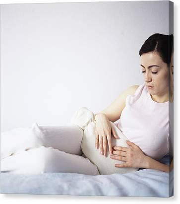 Menstrual Pain Canvas Print by Cristina Pedrazzini