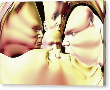 Mental Illness, Conceptual Artwork Canvas Print by David Mack